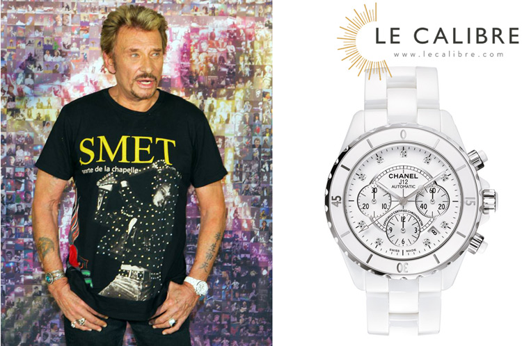 johnny hallyday chanel j12