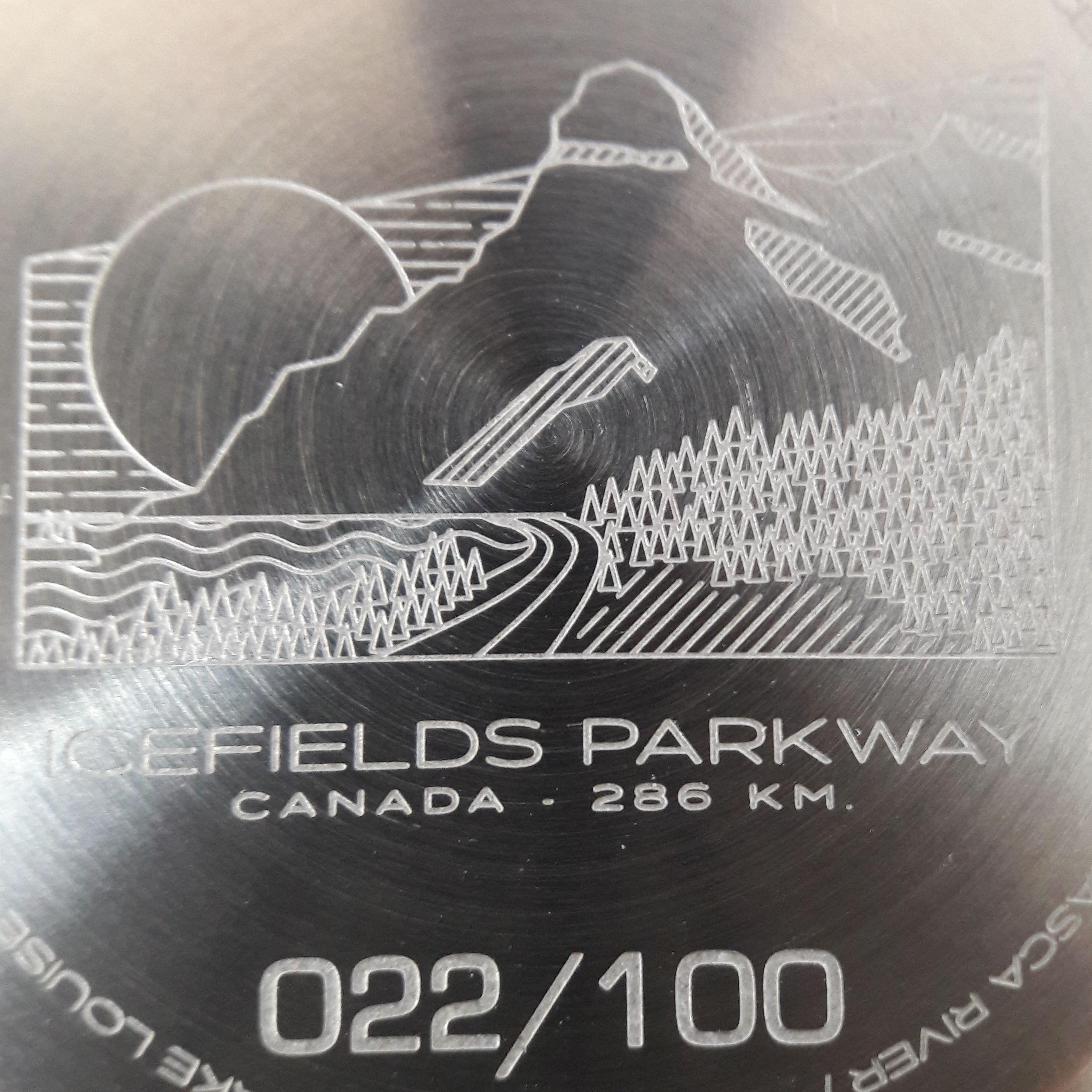 Montre Gavox Roads Icefields Parkway detail du fond
