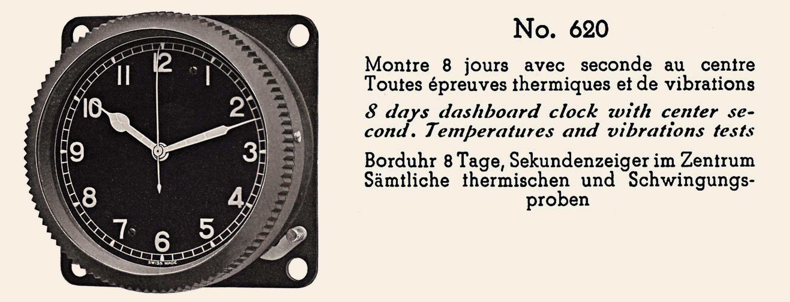Breitling montre de bord référence 620