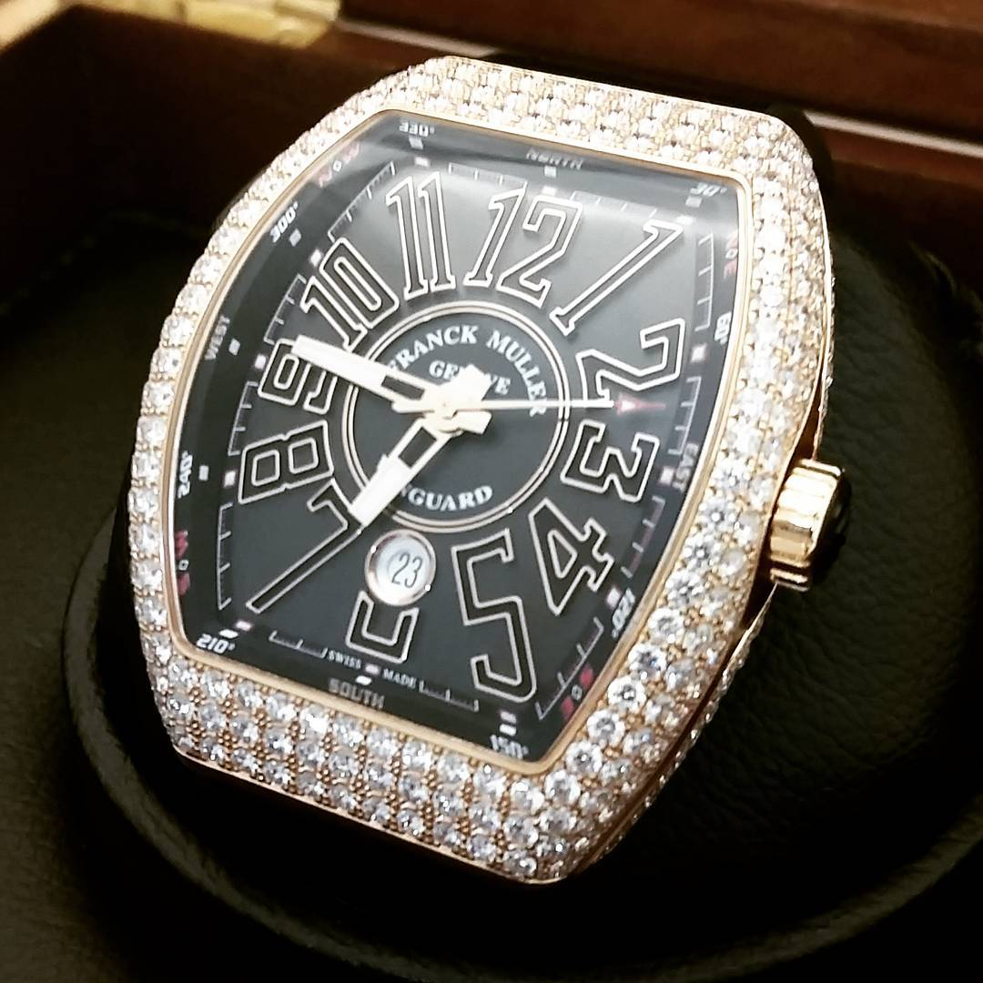 Conor-McGregor-meilleure-Collection-Franck-Muller-Rose-Gold-Vanguard-Diamond-Pave