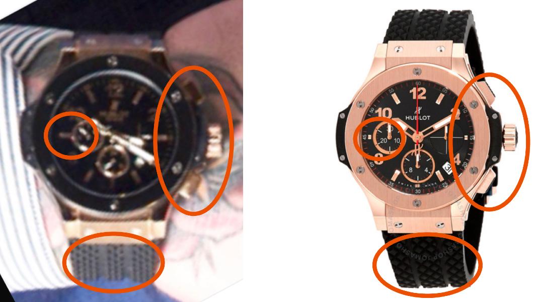 comparaison montres