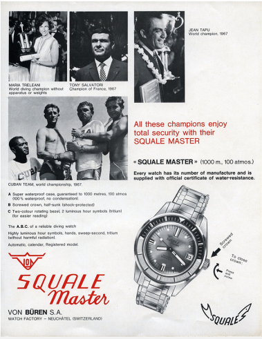 squale master ancienne publicite