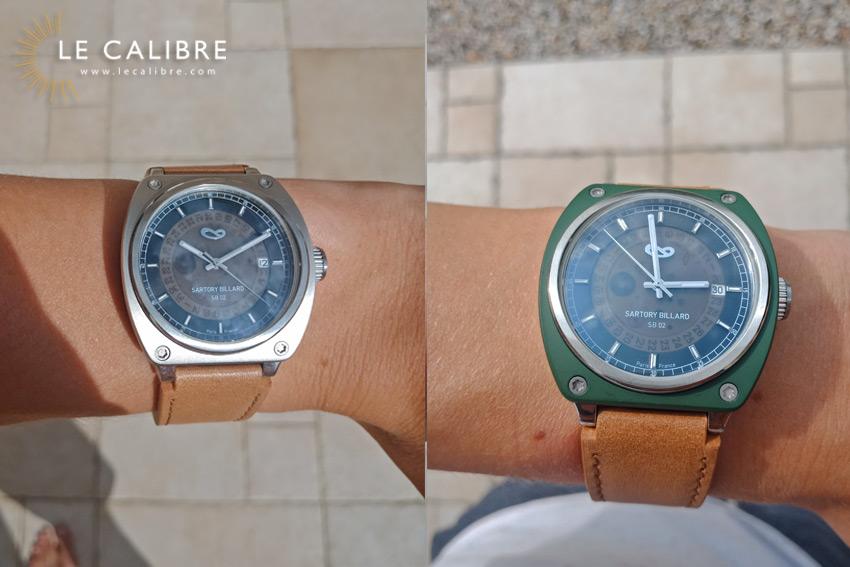 cadran-noir-bracelet-marron