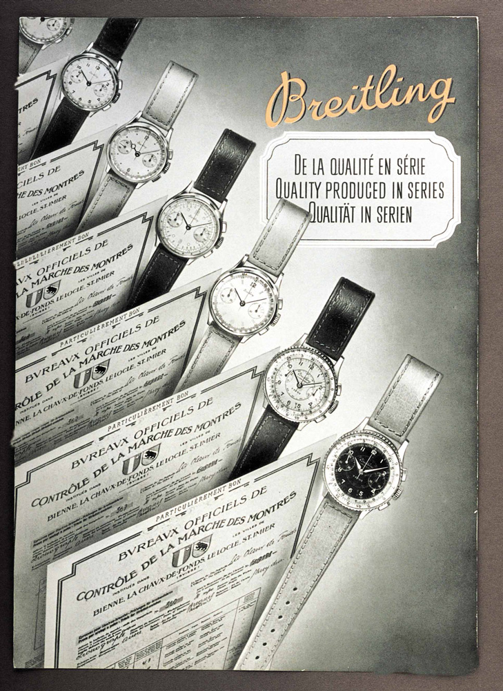 Quality produced in series advertisement, 1946 (PPR/Breitling)