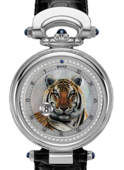 Tigre peint sur montre Bovet-Fleurier