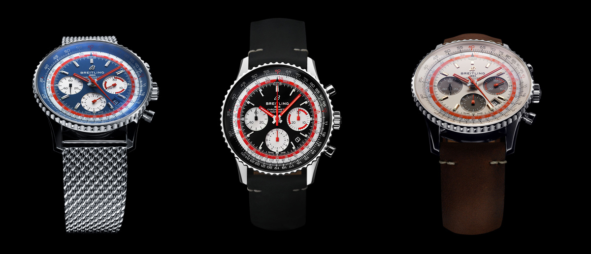 capsules Navitimer 1 B01 Chronograph 43 Airline Edition PAN AM, Swissair TWA