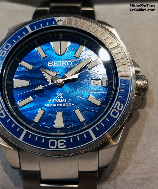 Seiko Samourai save the ocean requin blanc