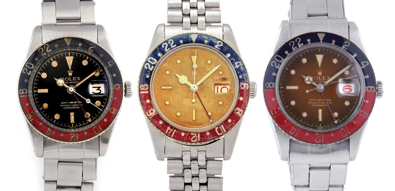 cadran vintage GMT