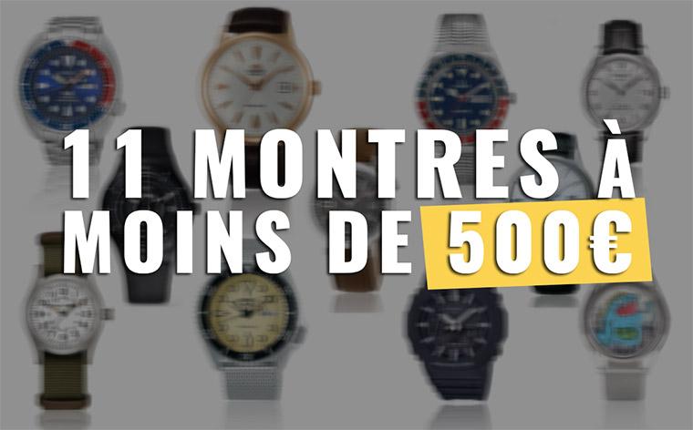 11 Montres Homme et unisexe à moins de 500 euros