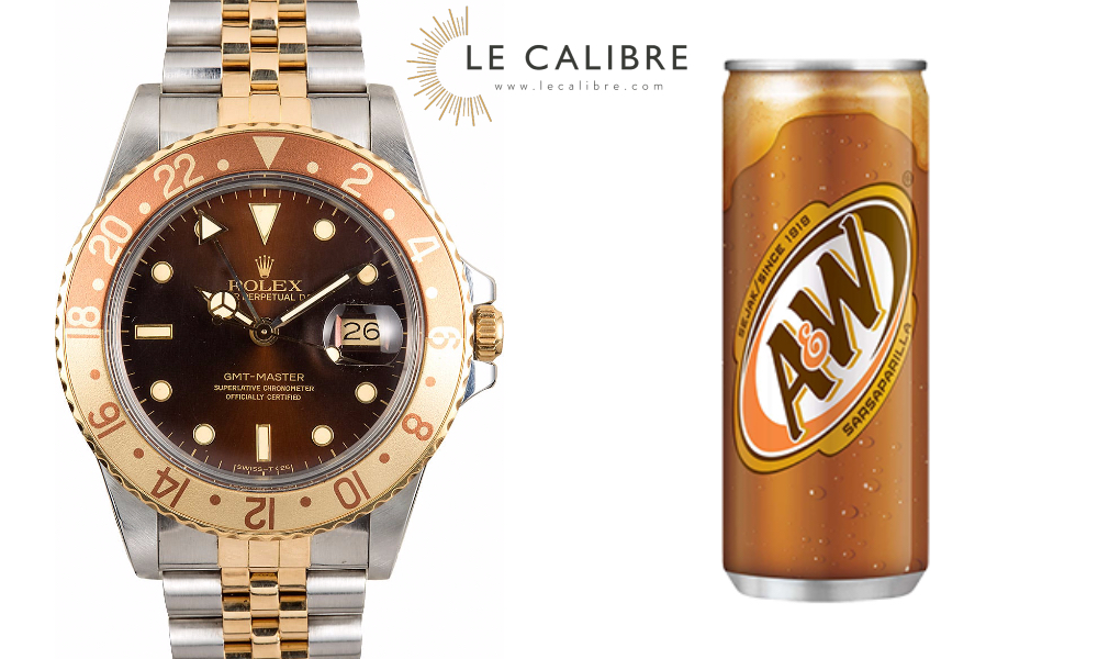 rolex gmt root beer le calibre