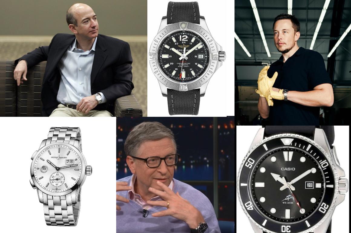 Elon Musk, Jeff Bezos, Bill Gates, les montres des PDG