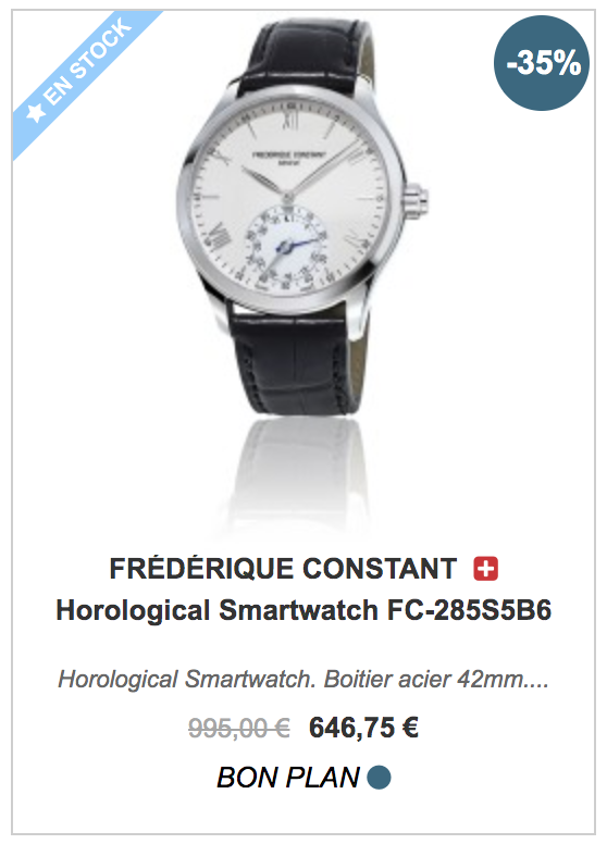 Frédérique Constant Horological Smartwatch FC-285S5B6