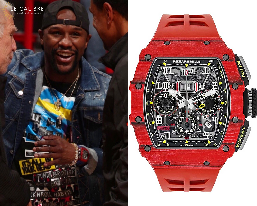 Mayweather RM 11 03 flyback quantieme annuel rouge