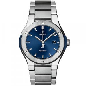 Hublot classic fusion titanium bleue 42mm