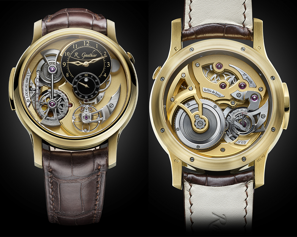 R Gauthier Logica one yellow gold