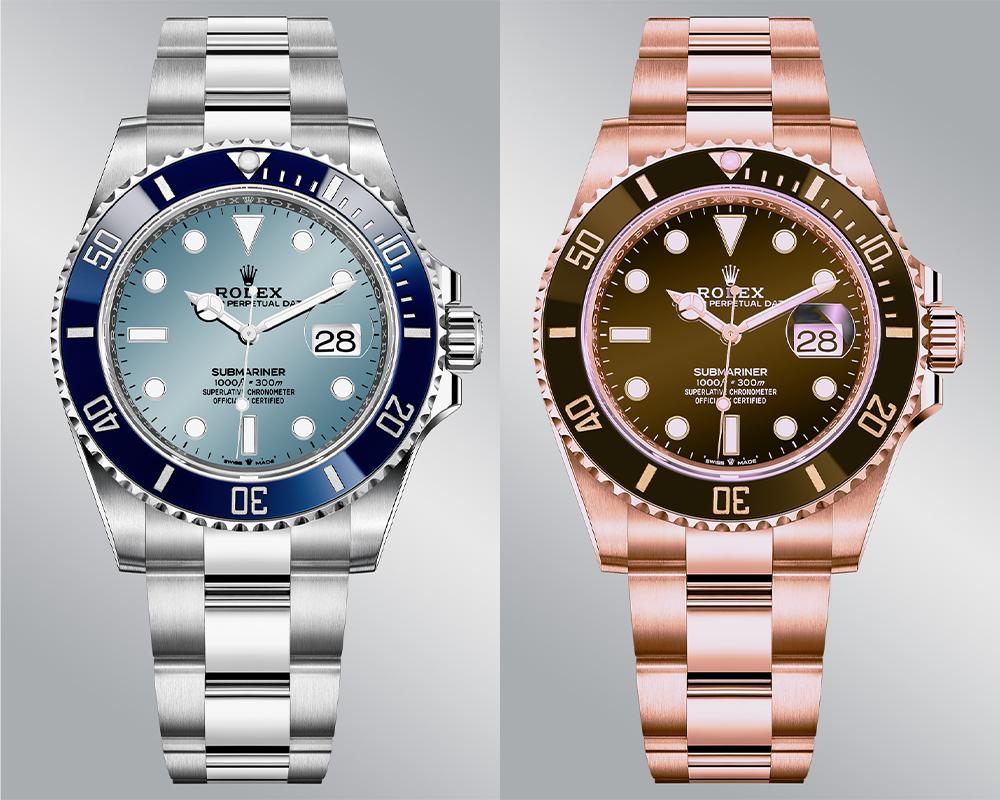 prediction submariner everose platine monochrome watches