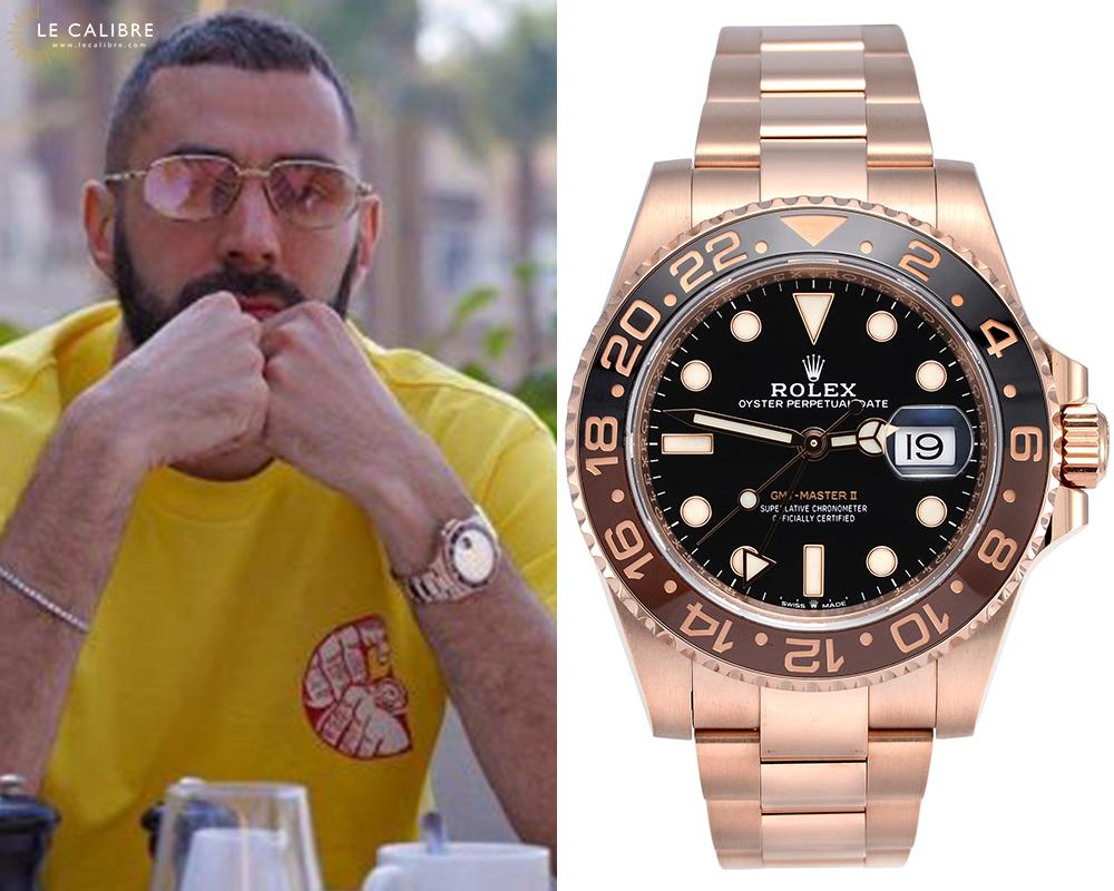 Benzema Rolex Gmt Master II everose
