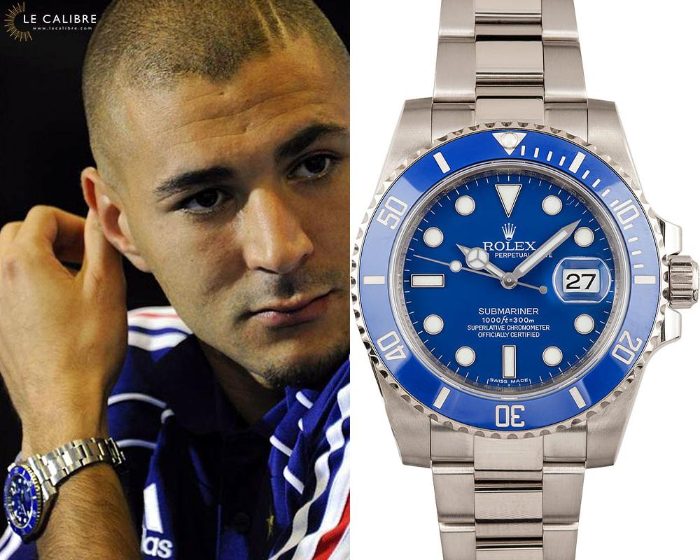 Karim Benzema Rolex Submariner Smurf
